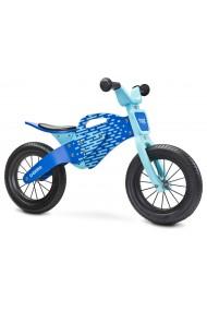 Enduro bleu bois de vélo sans pédales