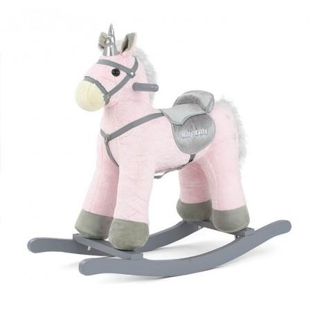 Cheval à Bascule Pepe Licorne rose