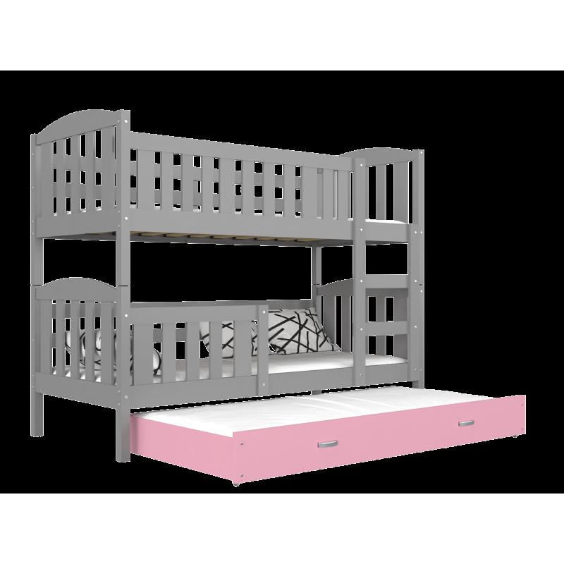 lit superpos avec lit gigogne jacob 3 190x80 cm. Black Bedroom Furniture Sets. Home Design Ideas